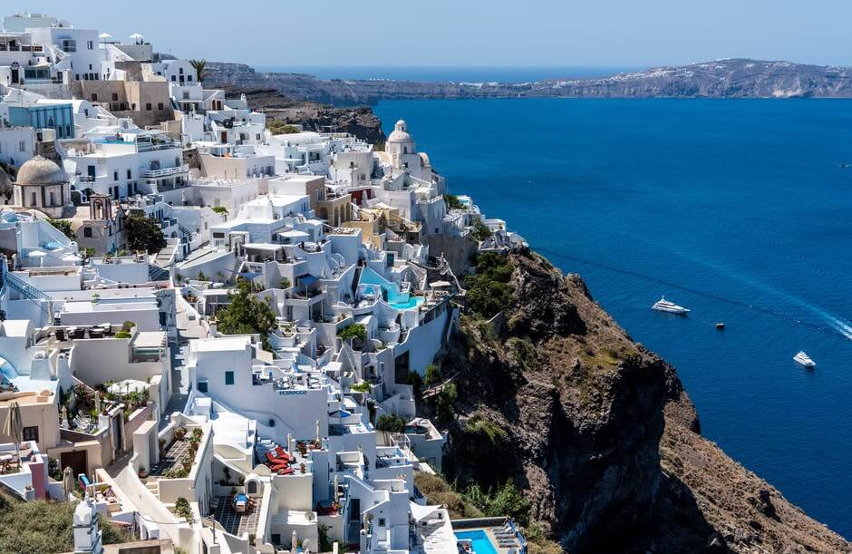 Mediterranean cruise tips , beautiful Santorini