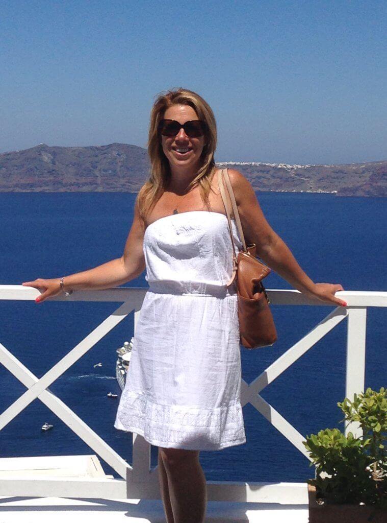 Cruising to Santorini
