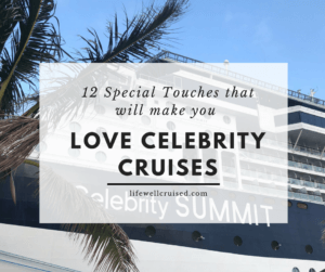 celebrity cruises special touches