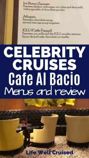 cafe al bacio coffee menu and decor of cafe