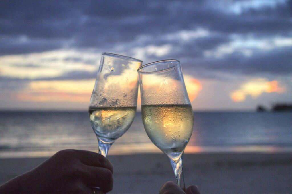 champagne couples romantic cruise