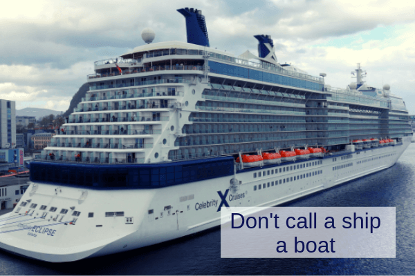 cruise lingo glossary for cruisers
