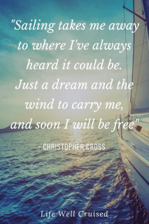 Sailing takes me away to where I've always heard it could be. Just a dream and the wind to carry me, and soon I will be free