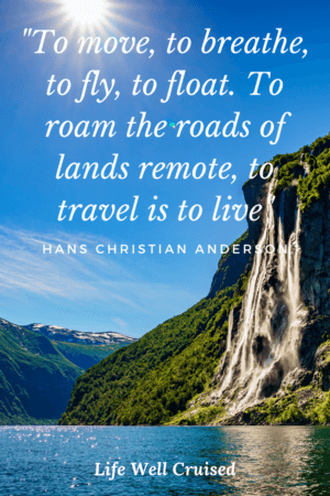 To move, to breathe, to fly, to float. To roam the roads of lands remote, to travel is to live