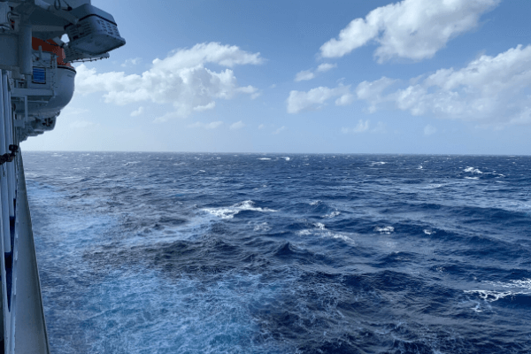 Rough seas on a cruise - avoiding motion sickness