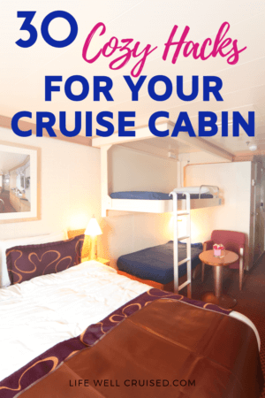 30 Cozy Hacks for Your Cruise Cabin PIN image