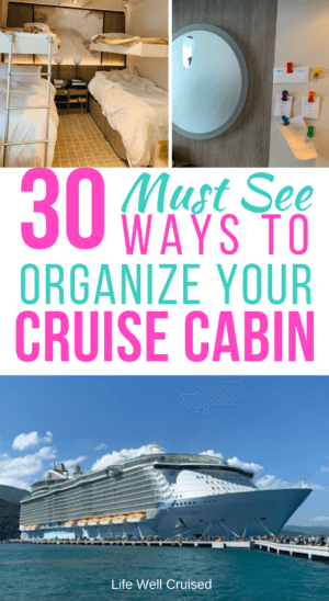 30 Must-See ways to organize your cruise cabin PIN