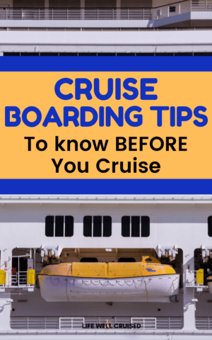 cruise boarding tips PIN image