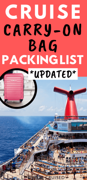 Cruise Carry on packing list updated Pin image cruise ship small luggage