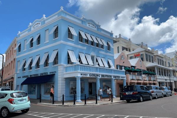Hamilton Bermuda pastel buildings