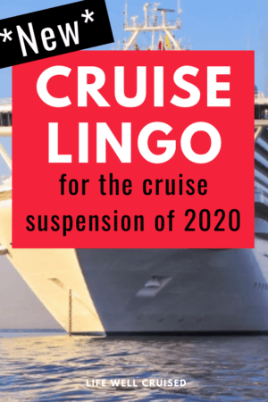 New cruise lingo for cruise suspension