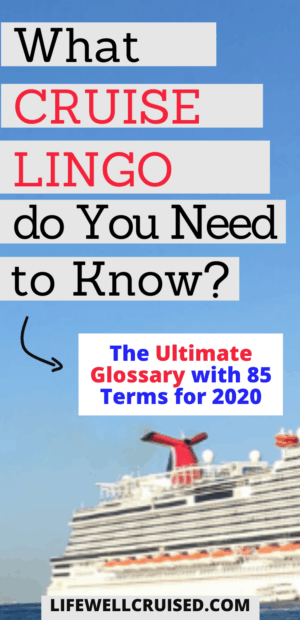 What cruise lingo do you need to know