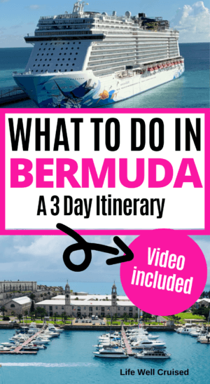 What to do in Bermuda - a 3 day itinerary PIN