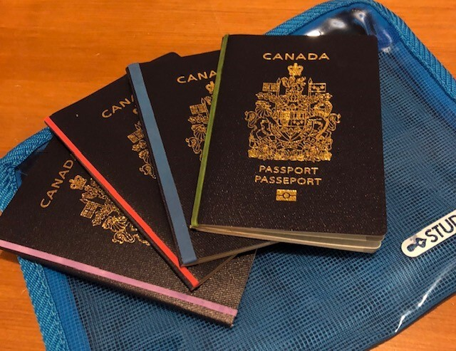 passports and cruise documents