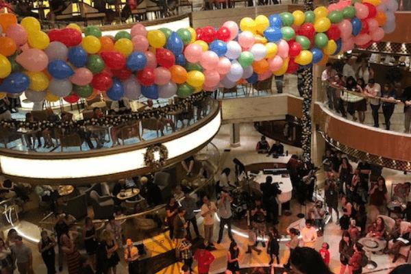 princess cruises balloon drop