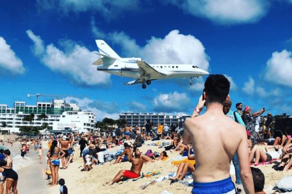 Maho Beach Airplane beach St. Martin