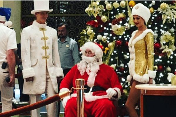 santa claus on a cruise