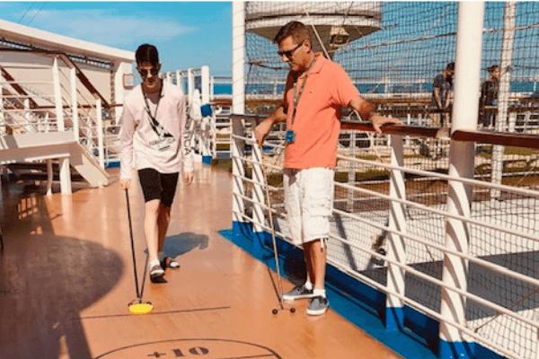 shuffleboard Frank and Ethan