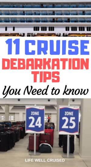 Cruise Debarkation Tips PIN image