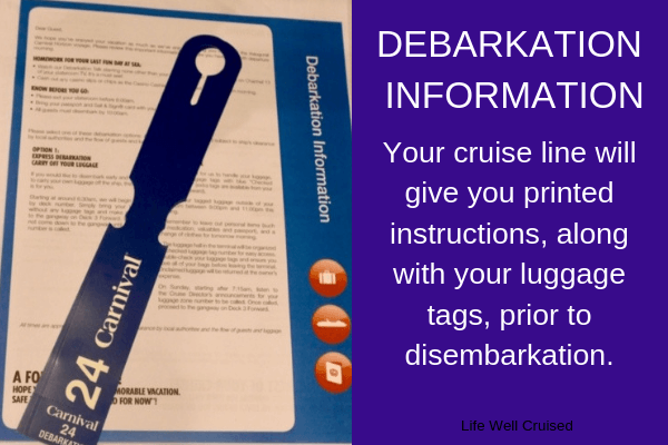 disembarkation instructions carnival cruise