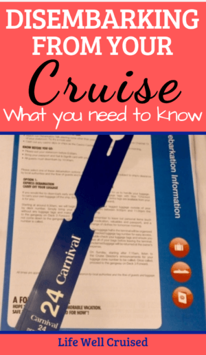 disembarking from your cruise