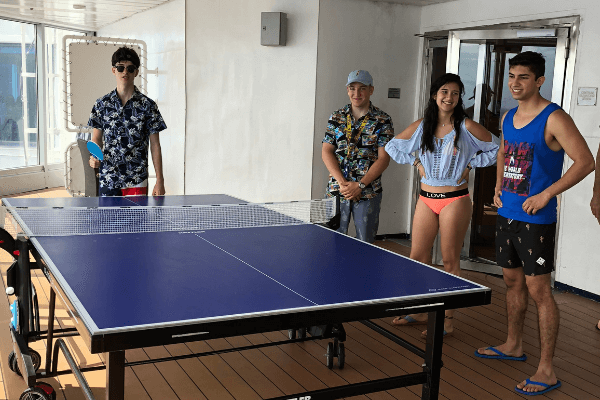 cruise ship table tennis