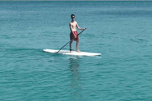 bermuda rising son paddleboarding