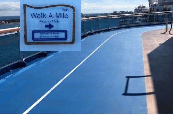 regal princess jogging track