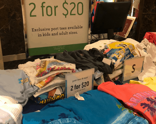 What to do during the day on a cruise - cruise shopping sales