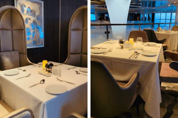 Celebrity Summit Main dining room seating