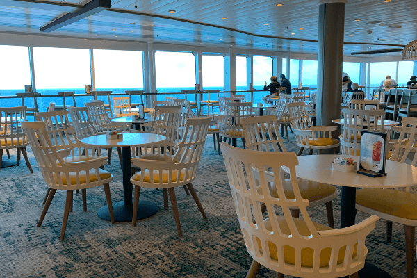 Celebrity Summit Oceanview Cafe variety of chairs 6 x 4