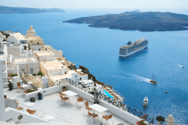 santorini view cruise ship