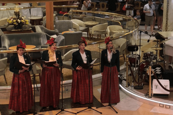 christmas carollers on a cruise