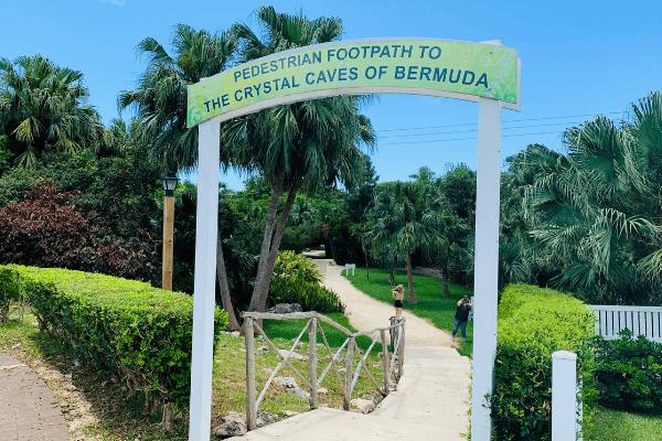 path to crystal caves bermuda