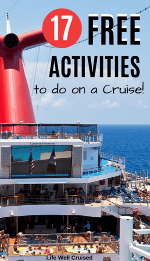 17 Free activites on a cruise PIN