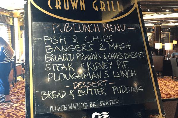 Regal Princess British Pun Lunch
