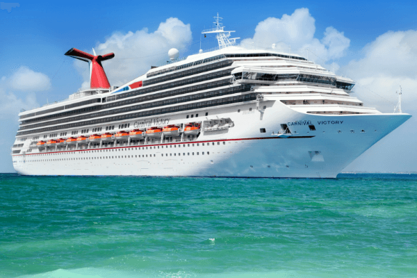 Carnival Cruise ship in the Caribbean