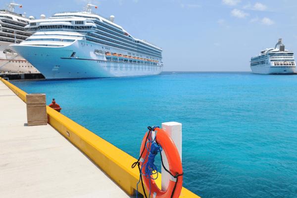 Paradise Beach - Cruise Ships at Cozumel Cruise Port DP