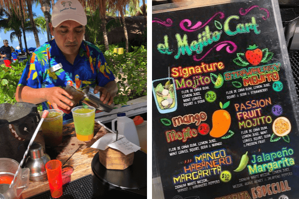paradise beach Freddy and mojito cart