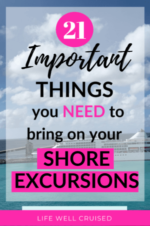 21 Important Things to bring for your shore excursions