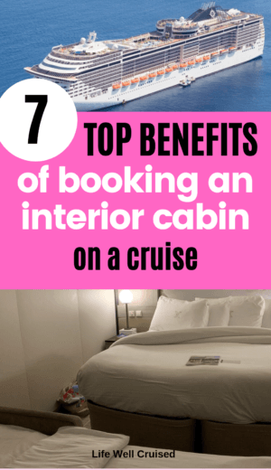 7 Top Benefits of booking a interior cabin PIN image