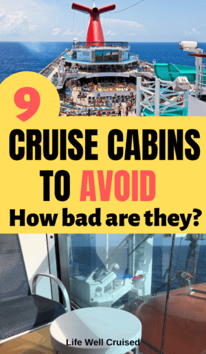 9 cruise cabins to avoid