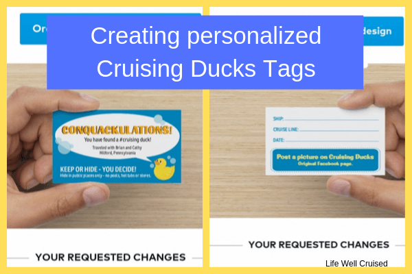 personalized tags on cruising ducks - vistaprint