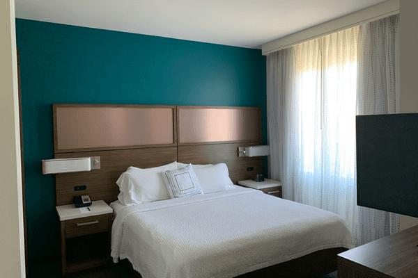 Residence Inn Mariott bedrooom Secaucus Meadowlands 6 x 4
