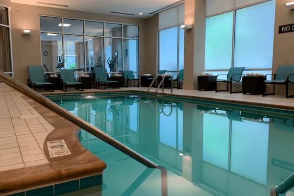 Residence Inn pool Mariott Secaucus Meadowlands 6 x 4