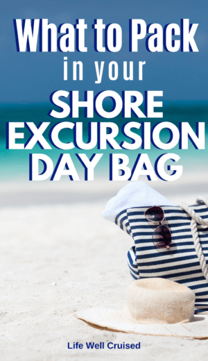 What to pack in your shore excursion day bag PIN