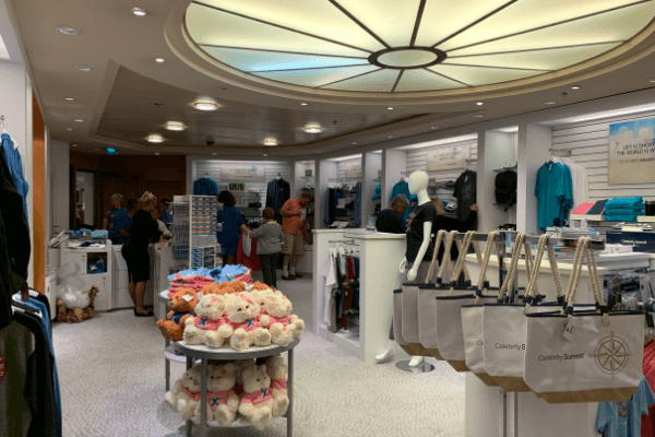 shopping on a cruise ship