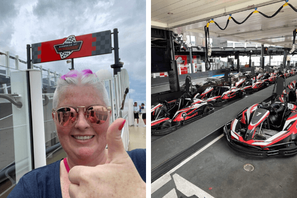 Norwegian Joy Speedway having fun