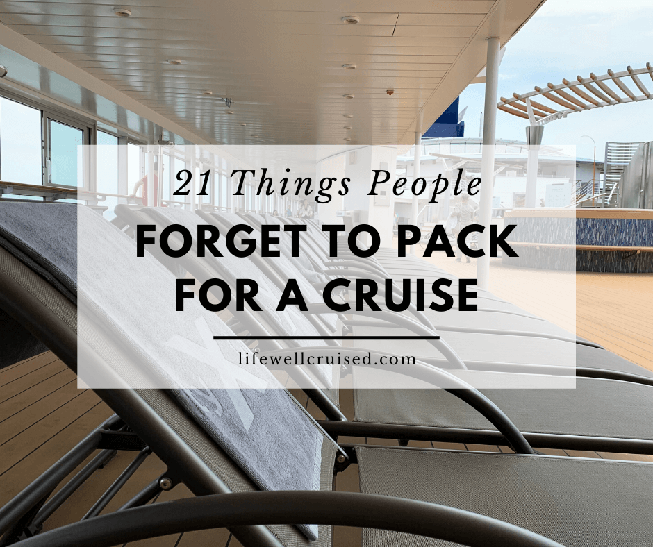 21 Things People Forget to Pack for a Cruise (and regret)