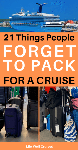 21 Things People Forget to Pack for a cruise